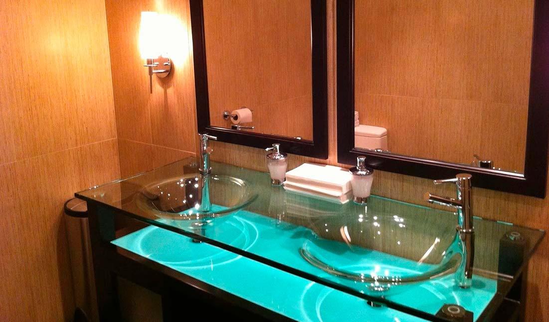 столешница, ванная, стільниця, скло